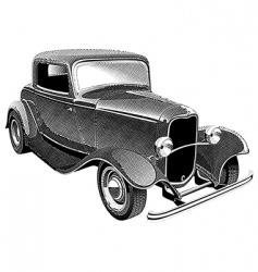 vintage muscle car engraving vector image
