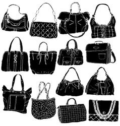 bags black vector image vector image