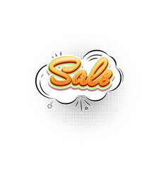 sale pop art splash cloud comic text speech vector image