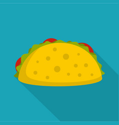 tacos icon flat style vector image vector image