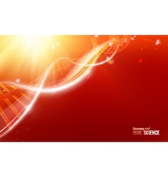 Abstract dna design vector image vector image