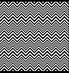 black and white vintage style zigzag pattern vector image vector image