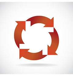 recycle wheel vector image