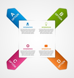 Abstract infographic with colorful arrows vector image vector image