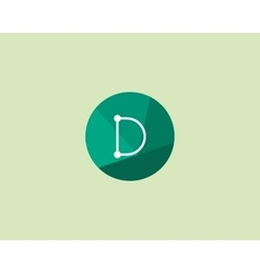 Abstract letter D logo design template Dot line vector image vector image