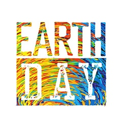 Earth Day Colorful Logotype Design vector image vector image