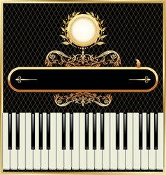 elegant piano background vector image vector image