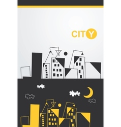 painted cityscape vector image