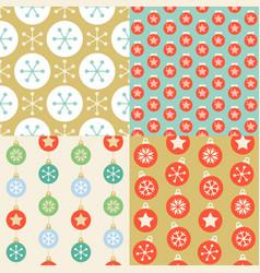 seamless pattern wallpaper of christmas ball vector image