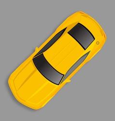yellow chevrolet camaro vector image vector image