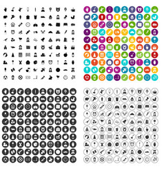 100 child center icons set variant vector