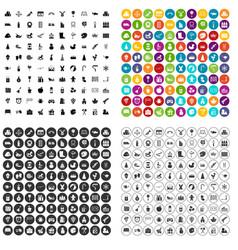 100 preschool education icons set variant vector