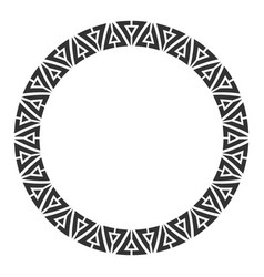 Abstract round meander circular geometric vector