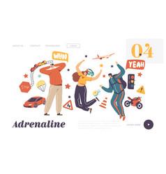 Adrenaline activity and sport recreation landing vector