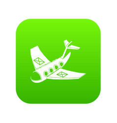 air post delivery icon green vector image