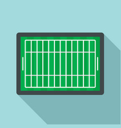 american football field icon flat style vector image
