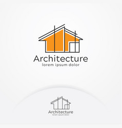 architecture logo design vector image