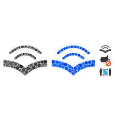 Audiobook mosaic icon circles vector
