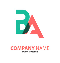 Ba ab initial logo concept can be used for vector
