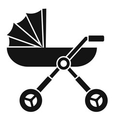 Baby pram carriage icon simple style vector