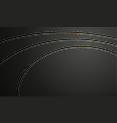 black leather with stitch background vector image