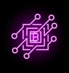 blockchain concept icon or design element vector image