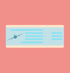 boarding pass icon image design vector image