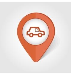 Car map pin icon vector