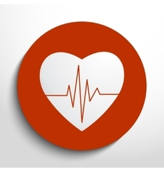 Cardiogram or heart rhythm medical icon vector