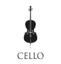 cello isolated on white background vector image