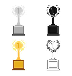 Challenge cup icon in cartoon style isolated on vector