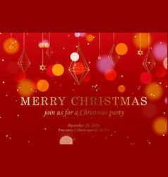christmas banner horizontal web banner template vector image