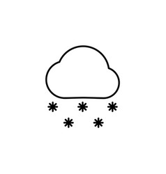 christmas weather outline icon element of new vector image