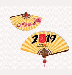 classic chinese new year blossom and oriental vector image