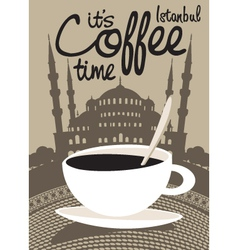 Coffee istanbul vector