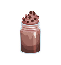 coffee smoothie in glass jar refreshment beverage vector image