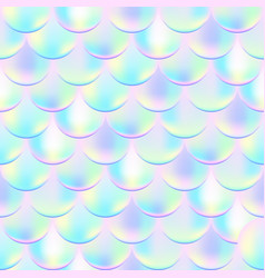 colorful mermaid seamless pattern vector image
