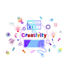 creativity concept business idea startup vector image