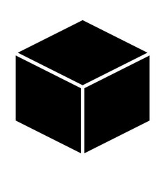 cube icon simple minimal 96x96 pictogram vector image
