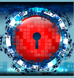 cyber digital tech lock vector image