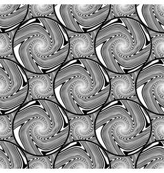 Design seamless monochrome ellipse background vector image