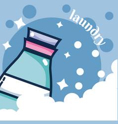 Detergent bottle laundry concept vector