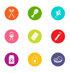 Dietary icons set flat style vector