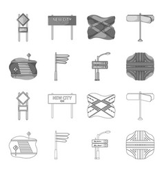 Direction signs and other web icon in outline vector