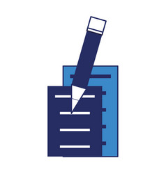 document pages and pencil icon vector image