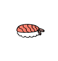 Doodle icon sushi asian food vector