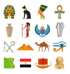 Egypt culture set vector