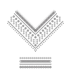 Ethnic pattern set vector