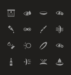 Eye lens - flat icons vector
