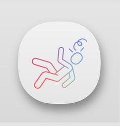 Fainting app icon vector